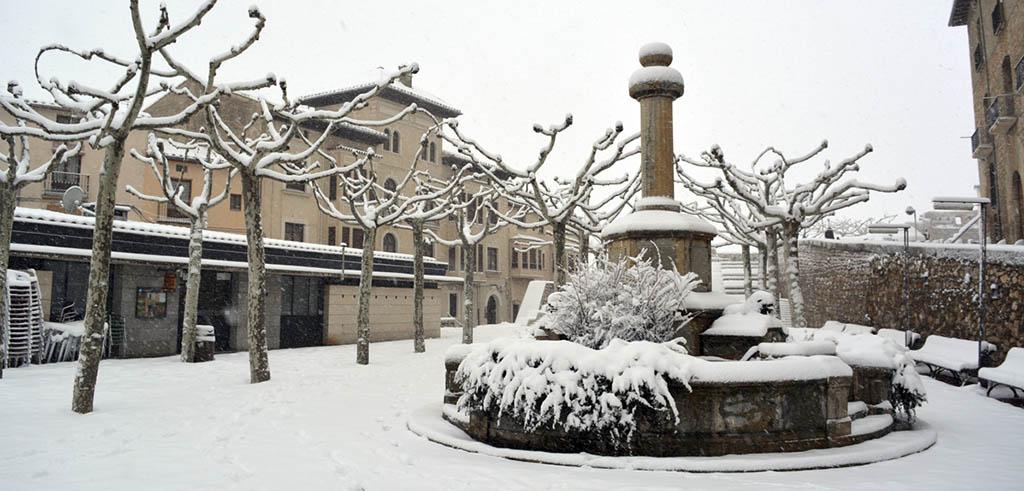 Nieve en el interior de Castellón